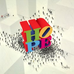 Hope Around the Corner III  by Craig Alan -  sized 36x36 inches. Available from Whitewall Galleries